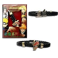 bleekmiddel Ichigo Kurosaki punk stijl pu lederen armband cosplay accessoire