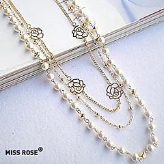 Mujer Strands Collares Collar con perlas Perla Legierung Moda joyería de disfraz Joyas Para Fiesta Diario Casual