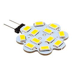 billige LED-lyspærer-2W G4 LED-lamper med G-sokkel 12 lysdioder SMD 5630 Varm hvid Kold hvid 250lm 3500/6000K Jævnstrøm 12V