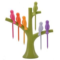 abordables Liquidación-pájaro neje en la forma de árboles frutales birdie holder set tenedor