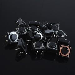 halpa -12x12x5mm mikrokytkin painiketta touch kytkin pieni avain-paina kytkintä (20kpl)