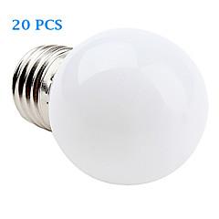 お買い得  LED 電球-E26/E27 フィラメントタイプLED電球 12 SMD 3528 30 lm 温白色 クールホワイト 交流220から240 V 20個