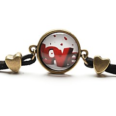 cheap Bracelets-Bracelet Charm Bracelet / Friendship Bracelets / Vintage Bracelet Resin / Flannelette Love Daily / Casual / Sports Jewelry Gift Brown