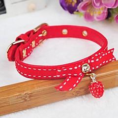 お買い得  犬用首輪/リード/ハーネス-ペットの犬のための調整可能なPUレザーイチゴ形のペンダント装飾された襟