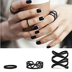 preiswerte Ringe-Damen Statement-Ring Schwarz Aleación Schmuck Personalisiert Liebe Modisch Hochzeit Party Geschenk Alltag Normal Valentinstag Modeschmuck