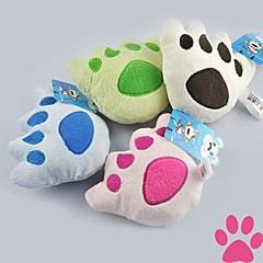 Katzenspielsachen Hundespielzeug Haustierspielsachen Plüsch-Spielzeug Fußabdruck Gewebe