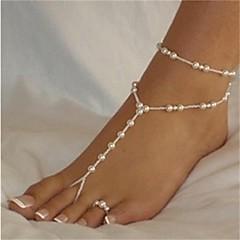 Kadın's Ayak bileziği/Bilezikler İnci Moda Bikini Sexy kostüm takısı Top Mücevher Uyumluluk Kumsal Bikini