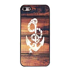 Недорогие Кейсы для iPhone-Кейс для Назначение iPhone 5 Apple Кейс для iPhone 5 С узором Кейс на заднюю панель анкер Твердый ПК для iPhone SE/5s iPhone 5