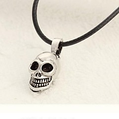Муж. Ожерелья с подвесками Титановая сталь Сплав В форме черепа Серебряный Бижутерия Повседневные Спорт