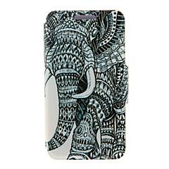 For Samsung Galaxy Note Kortholder Med stativ Flip Etui Heldækkende Etui Elefant Kunstlæder for SamsungNote 5 Edge Note 5 Note 4 Note 3