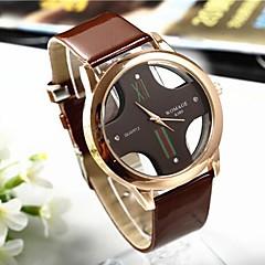 お買い得  大特価腕時計-男性用 リストウォッチ クォーツ ブラック / 白 / ブラウン ハンズ ホワイト ブラック Brown 1年間 電池寿命 / SSUO 377