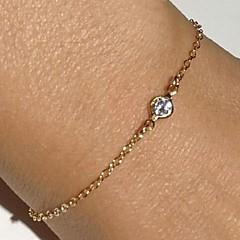 preiswerte Armbänder-Ketten- & Glieder-Armbänder - Strass, Diamantimitate Luxus Armbänder Gold Für Weihnachts Geschenke Party Alltag