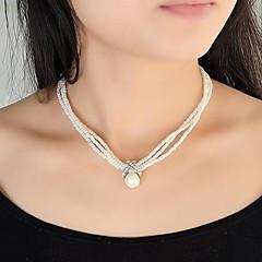 preiswerte Halsketten-Damen Perle Stränge Halskette / Perlenkette - Perle Modisch Modische Halsketten Für Party, Alltag, Normal