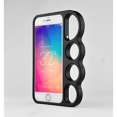 Para Funda iPhone 6 / Funda iPhone 6 Plus Soporte para Anillo Funda Cubierta Trasera Funda Un Color Dura MetaliPhone 6s Plus/6 Plus /
