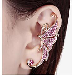 preiswerte Ohrringe-Damen Synthetischer Diamant Ohr-Stulpen - Strass Schmetterling, Tier Weiß / Purpur Für Hochzeit / Party / Alltag