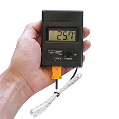 """φορητή οθόνη 2 """"ψηφιακό θερμόμετρο LCD thermodetector μετρητή -50 ° C-1300 ° C (1 x 9V μπαταρία)"""