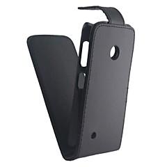 Недорогие Чехлы и кейсы для Nokia-Кейс для Назначение Nokia Nokia Lumia 530 Кейс для Nokia Флип Матовое Чехол Сплошной цвет Твердый Кожа PU для