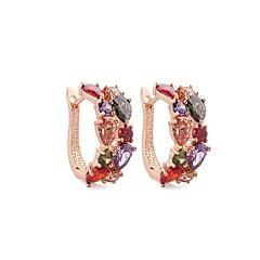Σκουλαρίκι Κρίκοι Κοσμήματα 2pcs Γάμου / Πάρτι / Καθημερινά Ζιρκονίτης / Πετράδι Γυναικεία