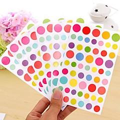 abordables Accesorios para Álbums de Fotos-colorido divertido Conjunto de etiqueta de punto (6 piezas)