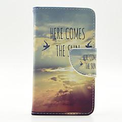 Недорогие Чехлы и кейсы для LG-Кейс для Назначение LG G3 LG L70 LG Кейс для LG Бумажник для карт Кошелек со стендом Флип Чехол Слова / выражения Твердый Кожа PU для
