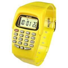 preiswerte Damenuhren-Kinder Modeuhr Digitaluhr Japanisch Quartz digital 30 m Kalender Armbanduhren für den Alltag Caucho Band digital Süßigkeit Gelb - Gelb Zwei jahr Batterielebensdauer