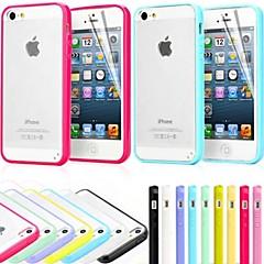 Недорогие Кейсы для iPhone 5-Кейс для Назначение iPhone 5 / Apple Кейс для iPhone 5 Матовое Кейс на заднюю панель Однотонный Твердый ПК для iPhone SE / 5s / iPhone 5