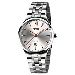 preiswerte Tolle Angebote auf Uhren-SKMEI Herrn Kleideruhr Kalender / Wasserdicht / Nachts leuchtend Edelstahl Band Luxus Silber