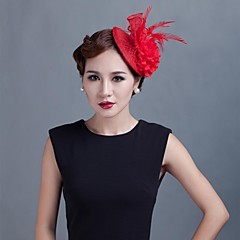 Women Wedding Party Sinamay Feather Fascinators SFC02062