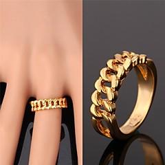 Męskie Damskie Dla par Obrączki biżuteria kostiumowa Pozłacane Stop Biżuteria Na Ślub Impreza Codzienny Casual Sport