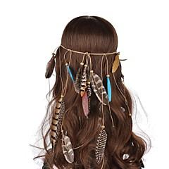 Bruiloft/Feest/Dagelijks/Causaal/Sport - Haarbanden ( Hout/Veer , Zoals Op De Afbeelding )