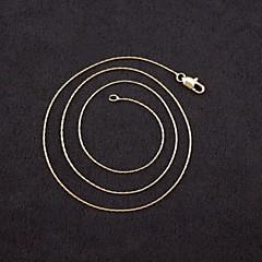 Муж. Жен. Женский Ожерелья-цепочки Позолота Мода Бижутерия Назначение Свадьба Для вечеринок Повседневные