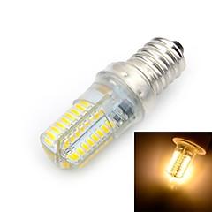 E14 LED-maïslampen T 64 leds SMD 3014 Warm wit 500-600lm 3000K AC 220-240V