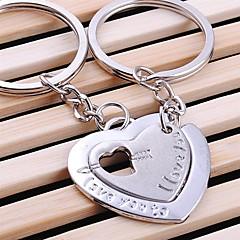 double mariage de coeur trousseau de clés pour le jour de valentine amant (une paire)