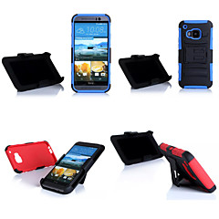 TPU 3 in 1 Design Shockproof Back Cover Case with Stripe Stand for HTC One(M9) (Assorted Colors)