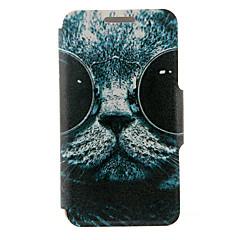 Для Samsung Galaxy Note Бумажник для карт / со стендом / Флип Кейс для Чехол Кейс для Кот Искусственная кожа SamsungNote 5 Edge / Note 5