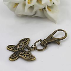 お買い得  キーホルダー-ファッションユニセックスレトロ合金は、蝶のペンダントキーチェーンをくりぬく