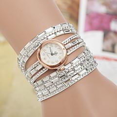 お買い得  大特価腕時計-yoonheel 女性用 ブレスレットウォッチ ホット販売 PU バンド チャーム / ファッション ブラック / 白 / ブルー