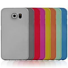 abordables Galaxy S6 Carcasas / Fundas-Funda Para Samsung Galaxy Funda Samsung Galaxy Ultrafina Funda Trasera Color sólido ordenador personal para S6