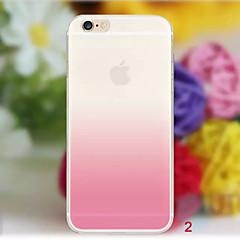 Για iPhone X iPhone 8 iPhone 8 Plus iPhone 6 iPhone 6 Plus Θήκες Καλύμματα Διαφανής Πίσω Κάλυμμα tok Διαβάθμιση χρώματος Μαλακή TPU για