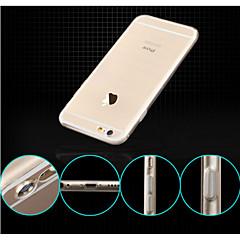 Для Кейс для iPhone 6 / Кейс для iPhone 6 Plus Водонепроницаемый / Ультратонкий / Прозрачный Кейс для Задняя крышка Кейс для Один цвет