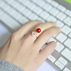 お買い得  指輪-女性用 アクリル / ラインストーン / 合金 ハート バンドリング - 幸福 / 恋 / オープン リング 用途 結婚式 / パーティー / 日常