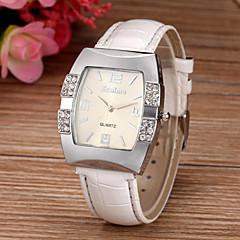 preiswerte Tolle Angebote auf Uhren-Damen Quartz Armbanduhr Imitation Diamant PU Band Glanz Simulierte Diamant-Uhr Modisch Weiß Blau Rosa Lila Rose
