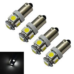 preiswerte LED-Birnen-4pcs 1 W 70-100 lm 5 LED-Perlen SMD 5050 Kühles Weiß 12 V / 4 Stück