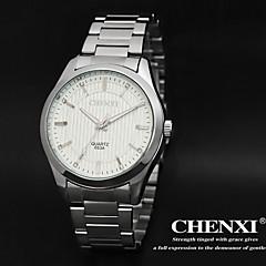 お買い得  メンズ腕時計-男性用 リストウォッチ カジュアルウォッチ ステンレス バンド ぜいたく ブラック
