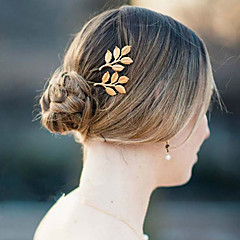 Wedding Hair Accessories Olive Branches Leaves Beautiful Bride Hairpin Side Folder Hairpins