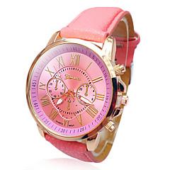 preiswerte Damenuhren-Geneva Damen Armbanduhr Armbanduhren für den Alltag PU Band Modisch / Elegant Weiß / Blau / Rot / Ein Jahr / SSUO 377