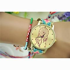preiswerte Tolle Angebote auf Uhren-Damen Modeuhr / Kleideruhr / Armbanduhr Schlussverkauf Nylon Band Charme / Armband Rot / Grün / Ein Jahr / Jinli 377