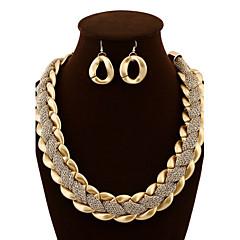 Damskie Zestawy biżuterii Kolczyki wiszące Oświadczenie Naszyjniki Wyrazista biżuteria Europejski luksusowa biżuteria biżuteria kostiumowa