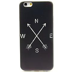 Для Кейс для iPhone 6 / Кейс для iPhone 6 Plus Ультратонкий / С узором Кейс для Задняя крышка Кейс для Черный и белый Мягкий TPUiPhone 6s