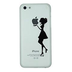 お買い得  iPhone 5S/SE ケース-ケース 用途 Apple iPhone 8 / iPhone 8 Plus / iPhone 7 パターン バックカバー Appleロゴアイデアデザイン ハード PC のために iPhone 8 Plus / iPhone 8 / iPhone 7 Plus